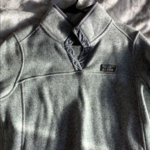 LLBean pullover cable sweater